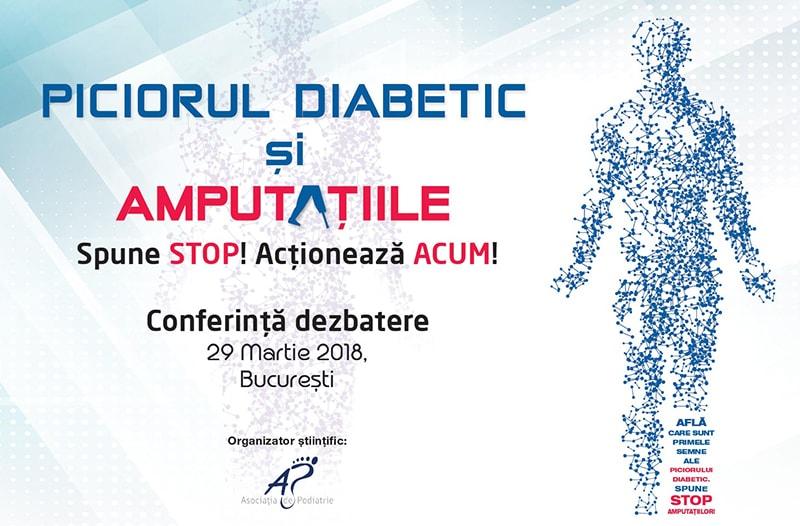 Conferință dezbatere – Piciorul diabetic și amputațiile